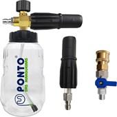 Bico Curto e Snow Foam Bricotech Hp 100C + Plus Com Sistema de Engate Rápido e Registro